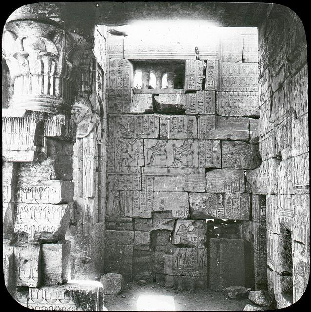 A rare image of the interior of the Deir El-Medinah temple.