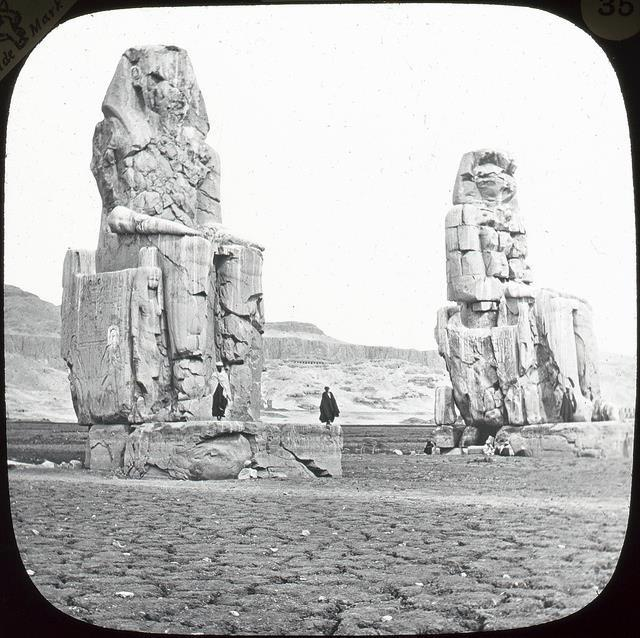 A rare image of the Clossi of Memnon.