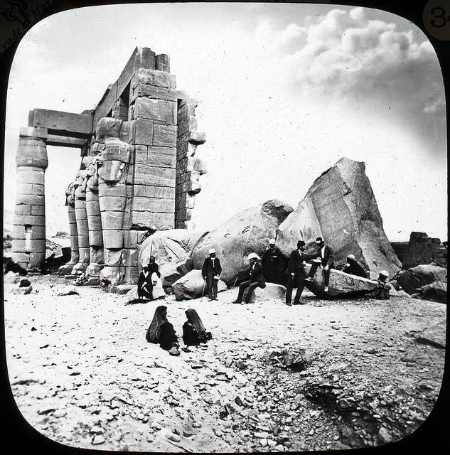 Una vieja imagen del Ramesseum.