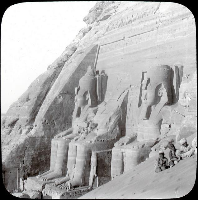 This image of the Abu Simbel temple was taken 110 years ago.