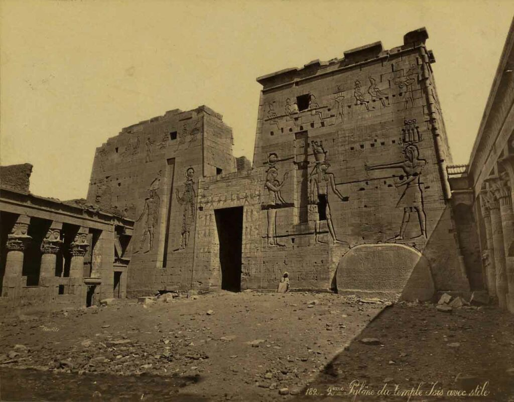 Mind-boggling image of the Philae temple. The mage was taken in the mid 1800's.
