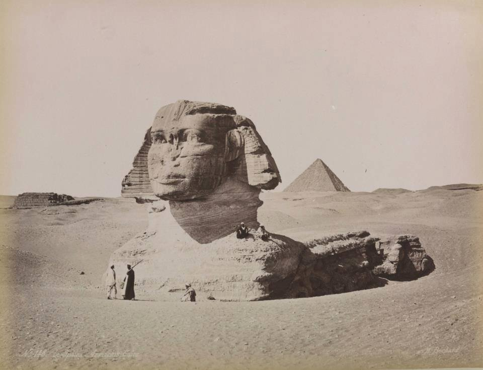 Another rare image of the Great Sphinx of Giza. The image was taken in 1887.