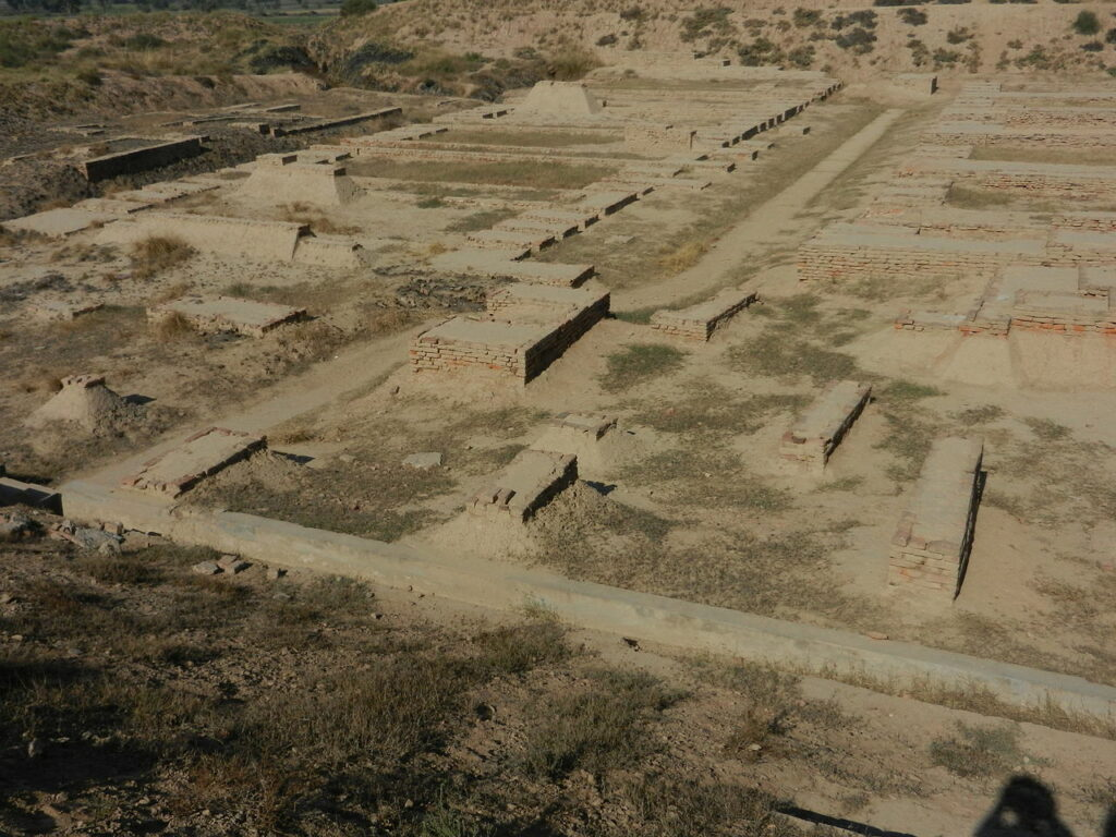 View of Granary and Great Hall on Mound F in Harappa. Image Credit: Wikimedia Commons.