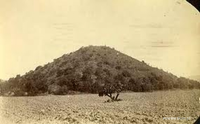 An image of the Pyramid of the sun in 1832