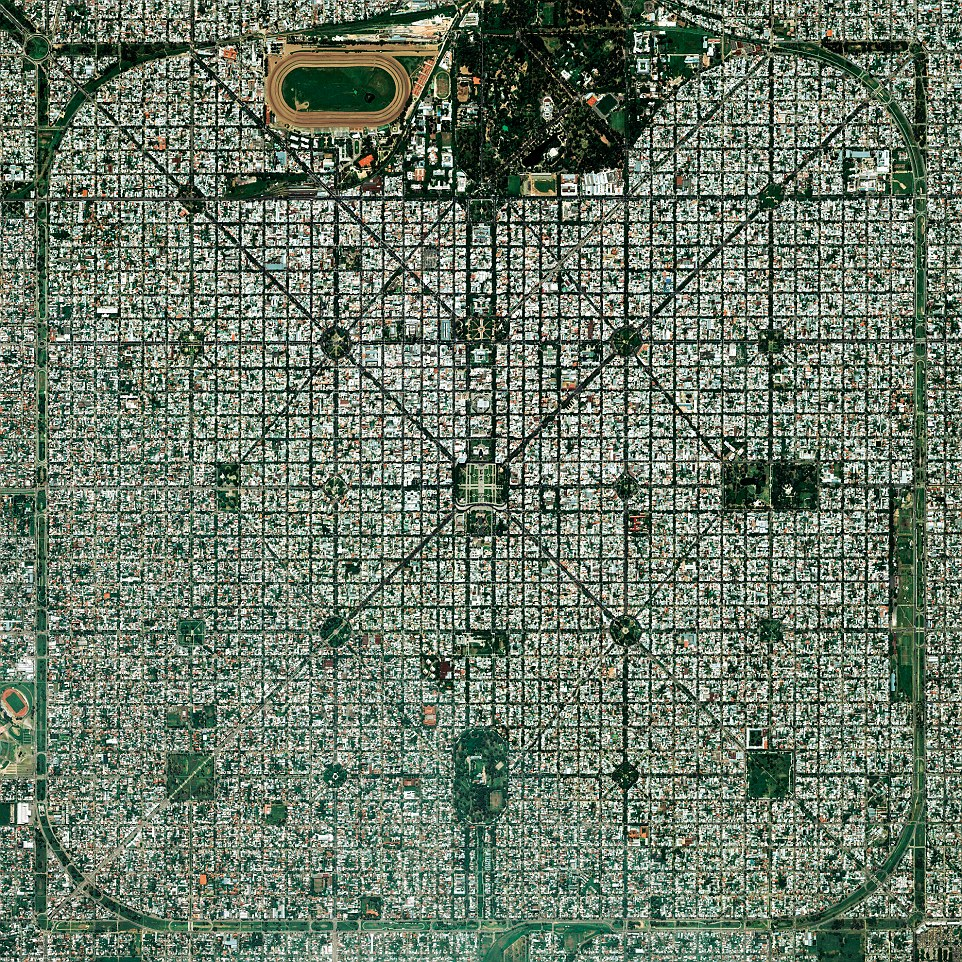 The planned city of La Plata in Argentina.