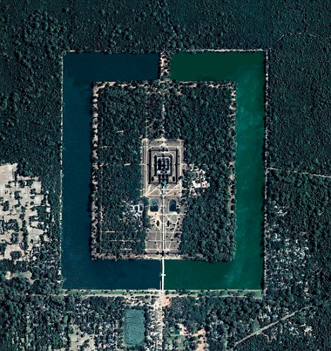 Angkor Wat as seen from the air