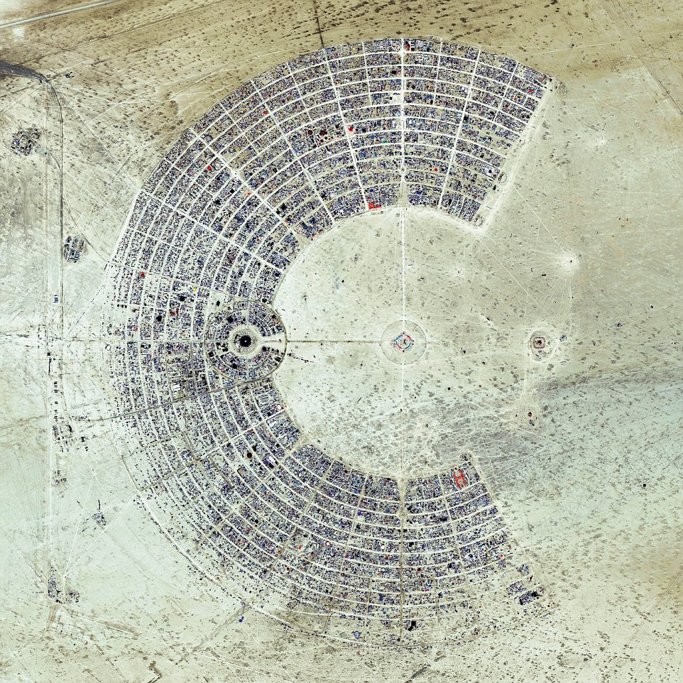 Drawing more than 65,000 participants each year, the Burning Man is a week-long, annual event held in the Black Rock Desert of Nevada, USA.