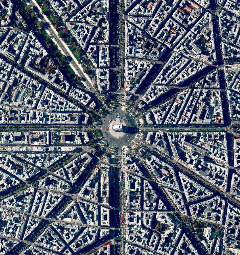 Beautiful Aerial shot of Paris.