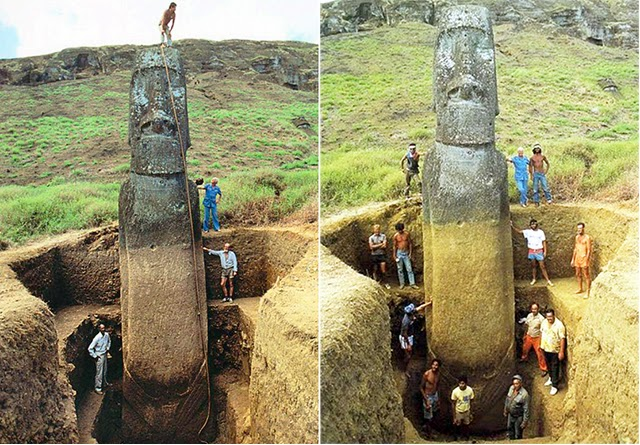 Gut gemocht Massive Easter Island Statues have bodies buried below the surface  NG47