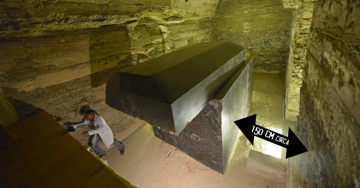 Image result for Advanced ancient technology beneath Egypt: 100-ton stone boxes baffle researchers