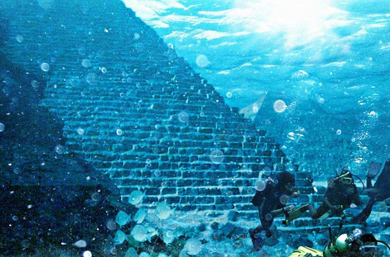Is there a massive Pyramid located where Plato said Atlantis would be?