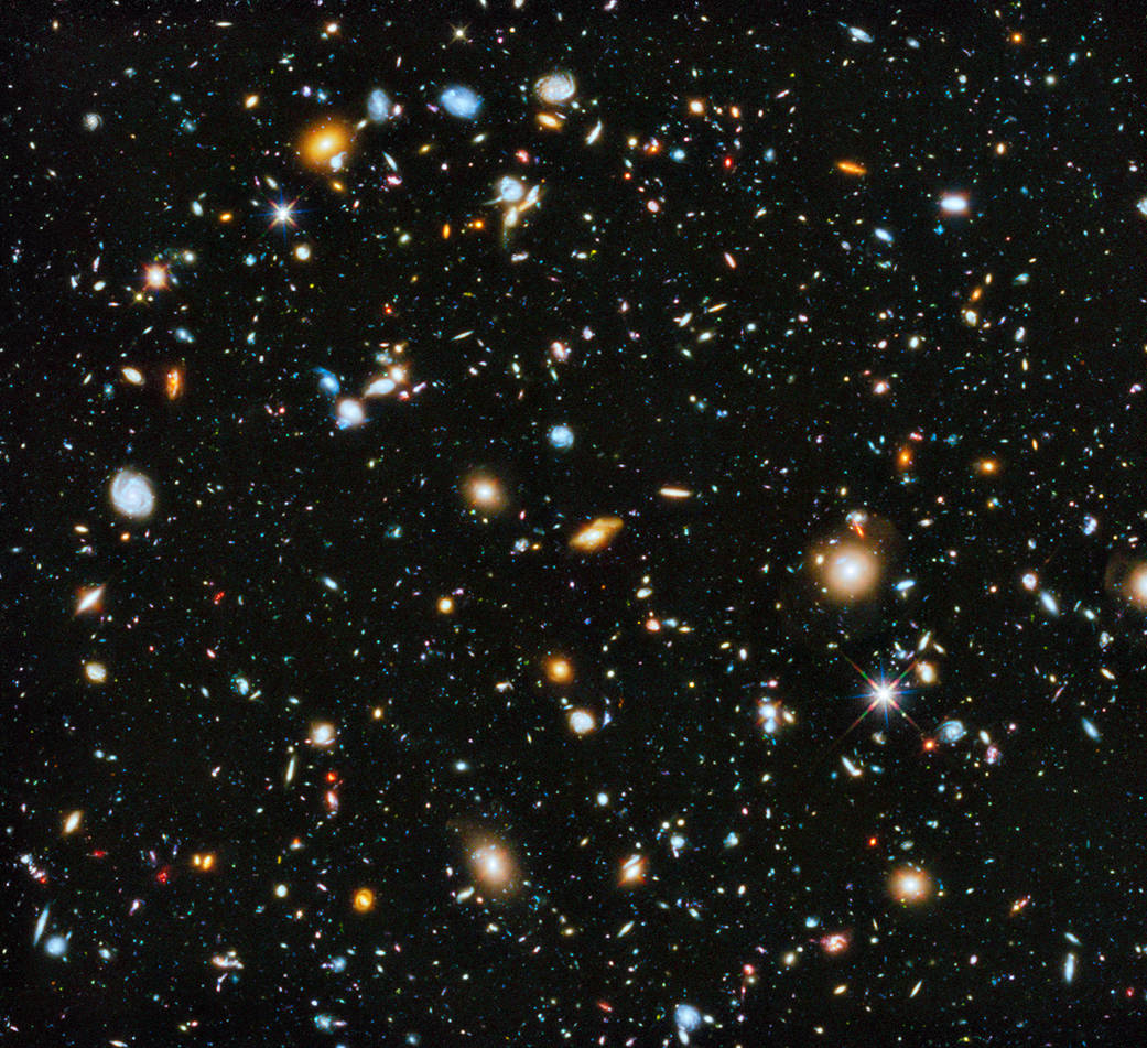 A composite of images from the Hubble Ultra Deep Field study. (Credit: NASA/ESA)