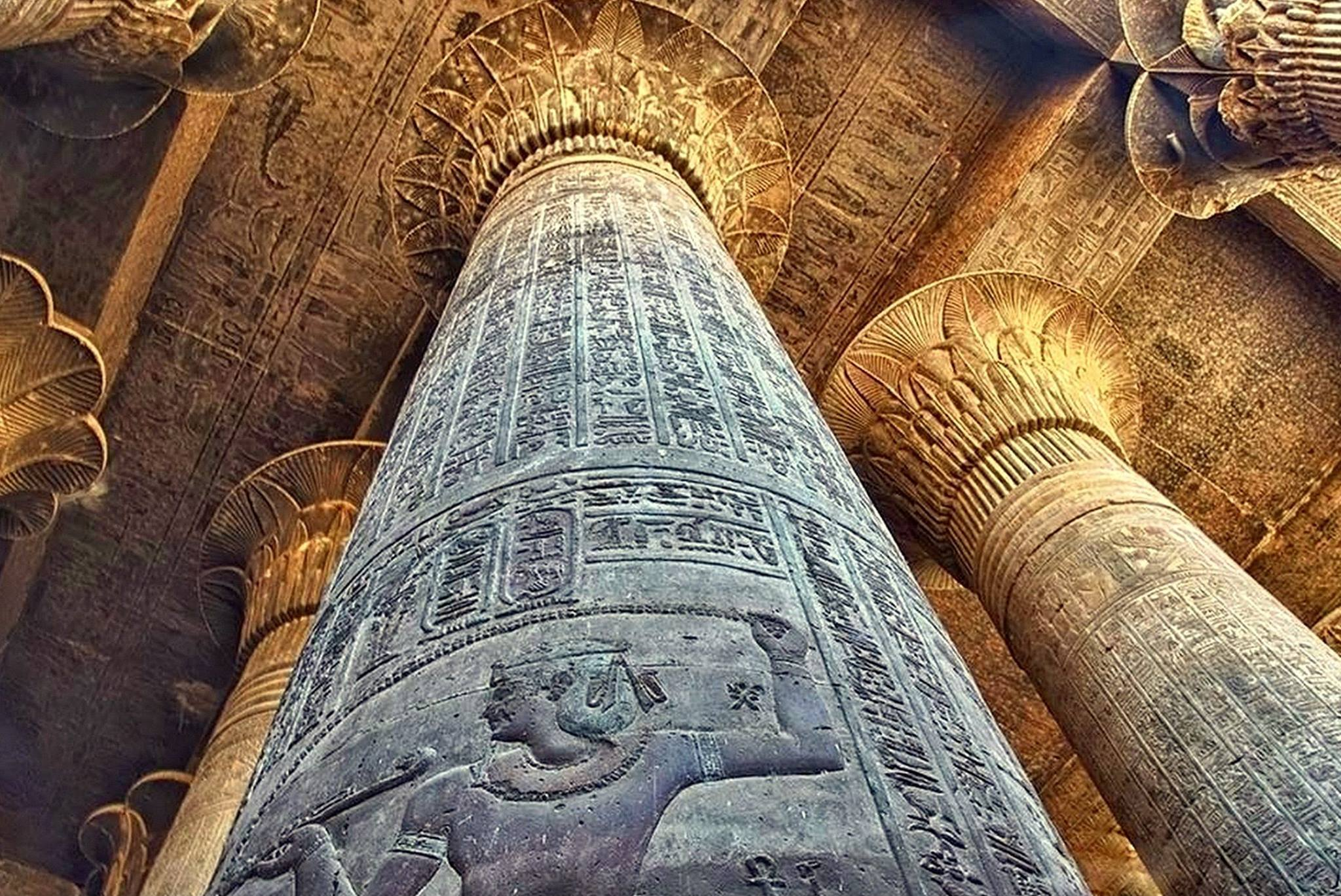 An image of The Temple of Horus at Edfu. Just imagine what the underground labyrinth may have looked like once...