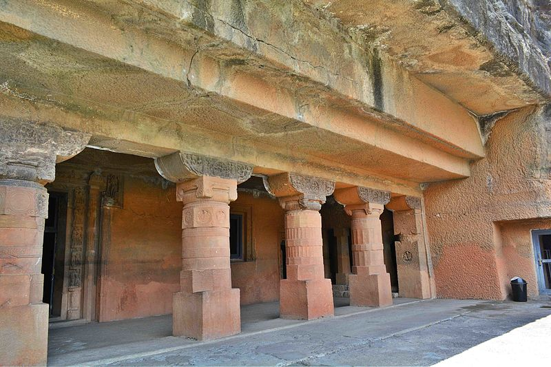 Ajanta Caves have been carved into a massive rock of the Deccan plateau.