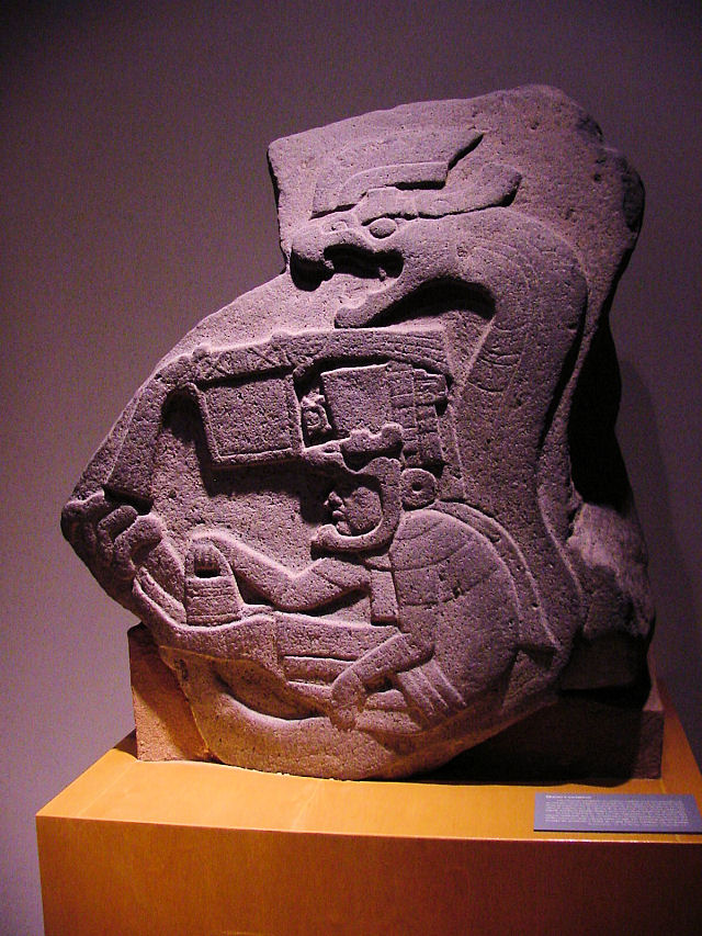 Olmec, La Venta Stele 19. The Earliest Known Representation Of A Feathered Serpent In Mesoamerica.