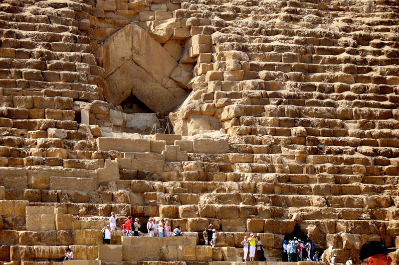 Oh... Did I forget to mention that the original entrance to the Great Pyramid of Giza was HUGE?