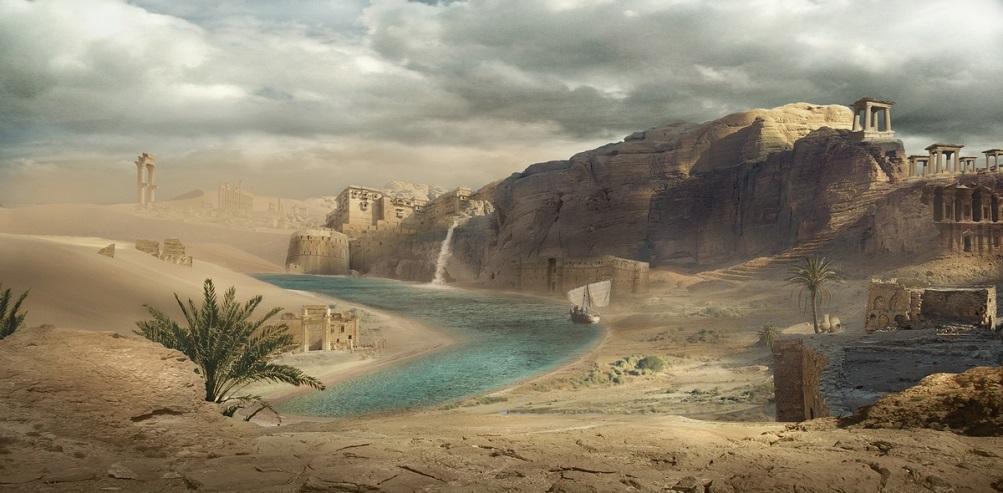 Antigua ciudad perdida en el desierto