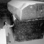 An image of the massive Sarcophagi at the Serappeum of Saqqara.
