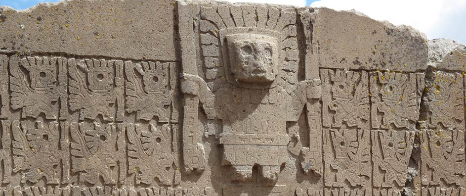 An image of a statue of Viracocha