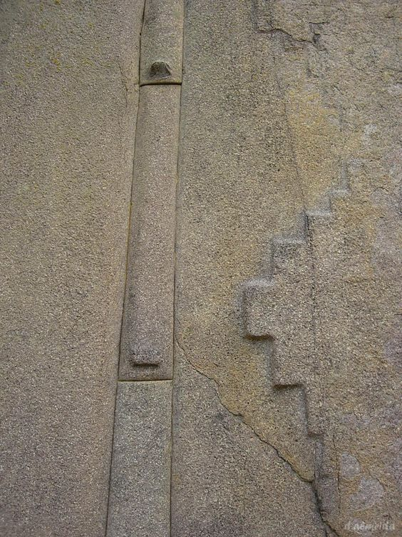 A closeup of the massive blocks of stone at Ollantaytambo. Image credit: Pinterest