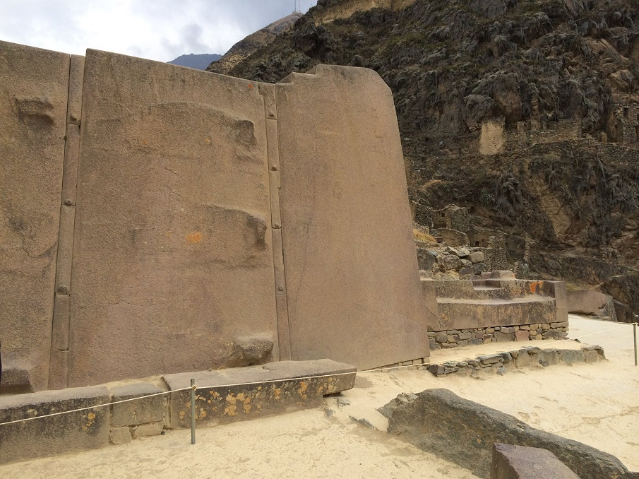 These are some of the largest stones at Ollantaytambo. Image by: Barry Everett‎