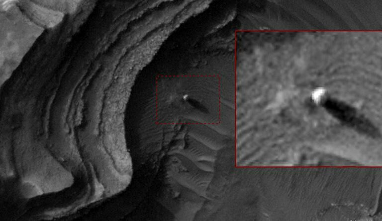 Ancient Aliens on Mars? Massive 'bright sphere' spotted by NASA satellite on Mars