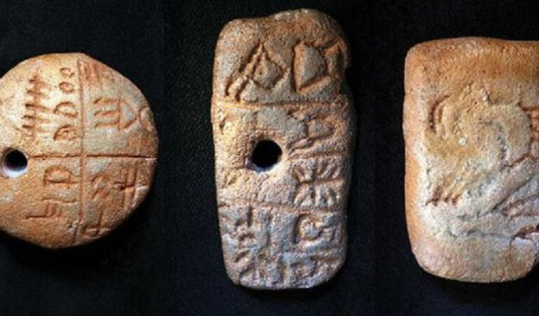 Clay tablets dating back to 5,000 BC show writing did not appear in Mesopotamia first