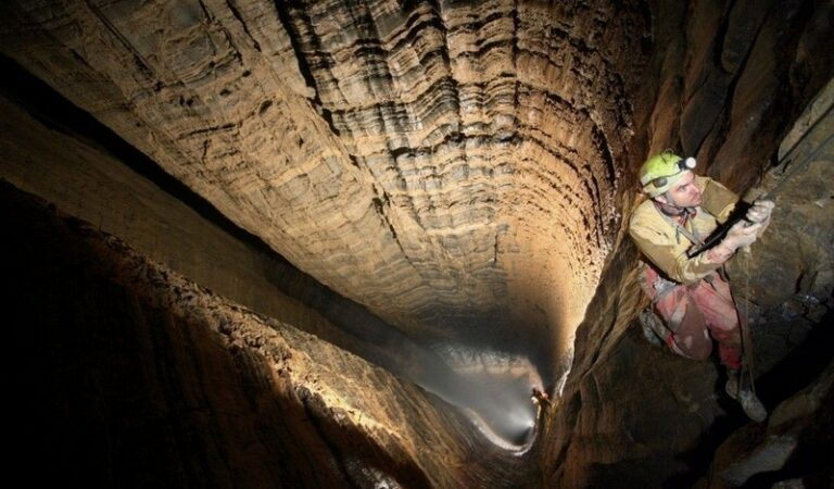 Krubera Cave, one of the deepest in the world and known as the 'entrance to Inner Earth'