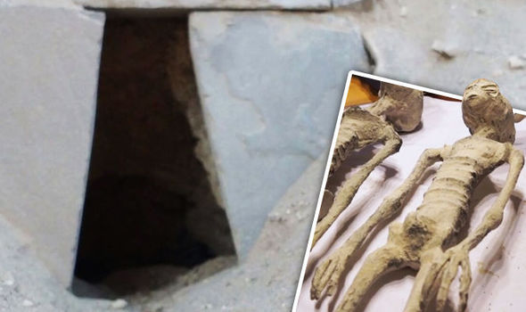 "Never-before seen images inside Tomb in Peru where alleged ""Alien mummies"" were found Alien-tomb-1"