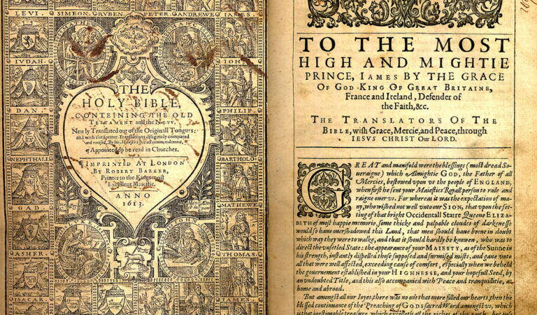 Hidden handwritten draft of the King James 'authorized' Bible discovered