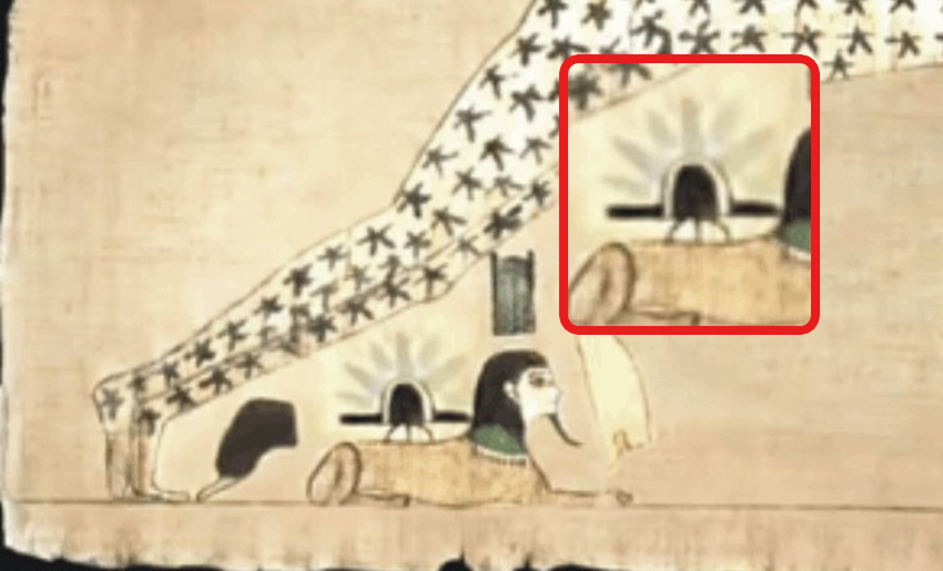 Древние рисунки на папирусе
