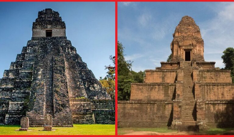 Impossible similarities: Baksei Chamkrong (Cambodia) and Temple of the Great Jaguar (Guatemala)
