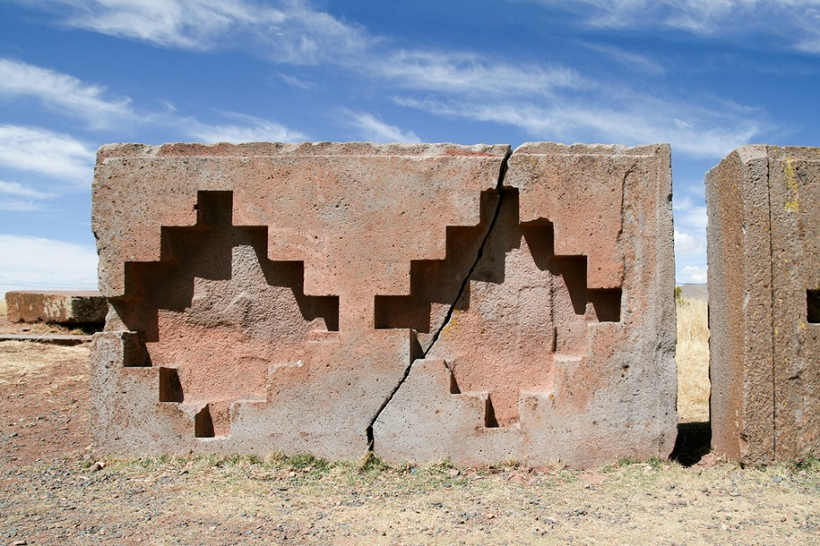 A set of stones at Puma Punku.