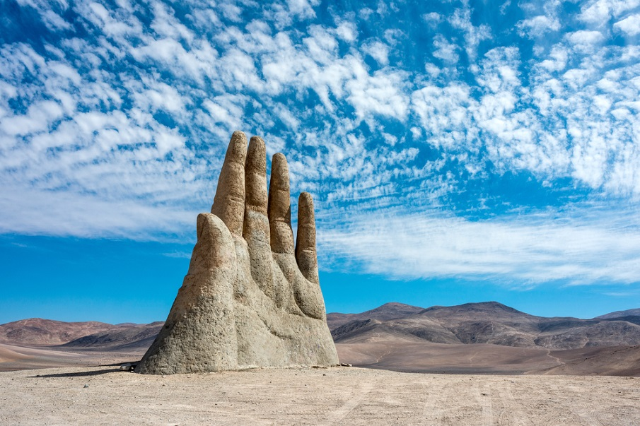 The Atacama desert of Chile hides a MASSIVE hand protruding from the ground Shutterstock_326720948