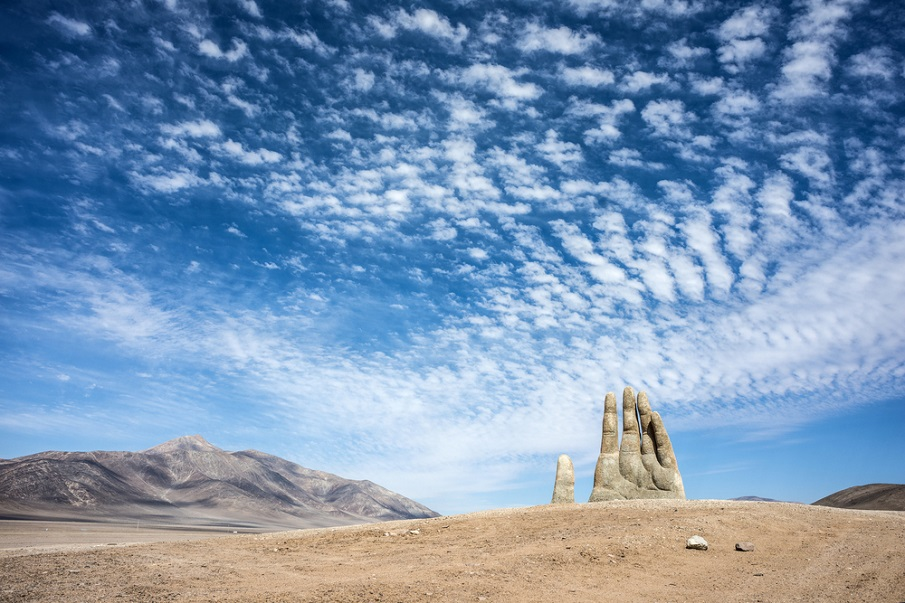 The Atacama desert of Chile hides a MASSIVE hand protruding from the ground Shutterstock_443779387