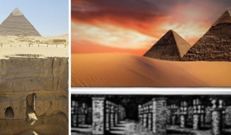 Ancient Texts: A massive underground world exists beneath the Pyramids of Giza