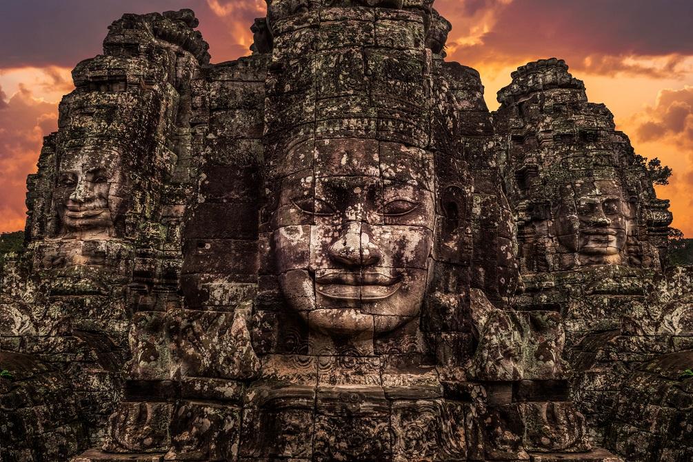 Những khuôn mặt của ngôi đền Bayon.