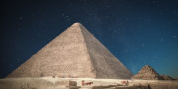 A view of the Great Pyramid of Giza
