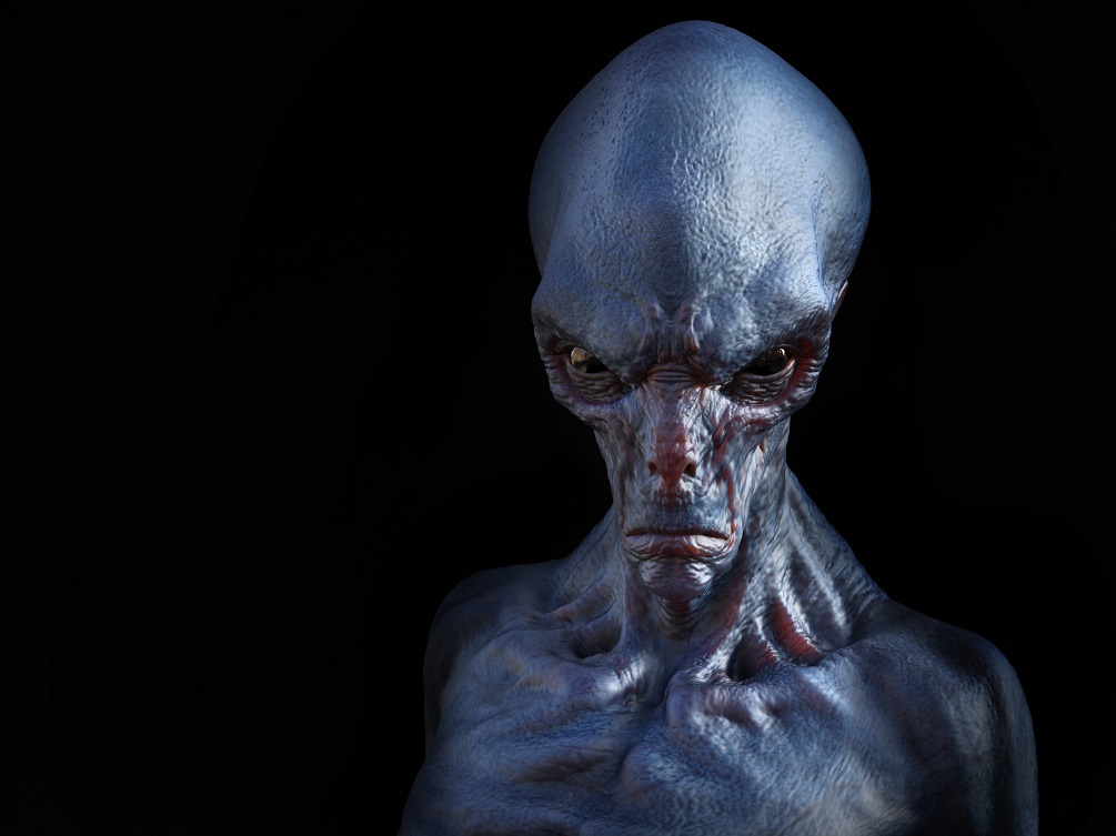 An illustration of what an alien may look like.