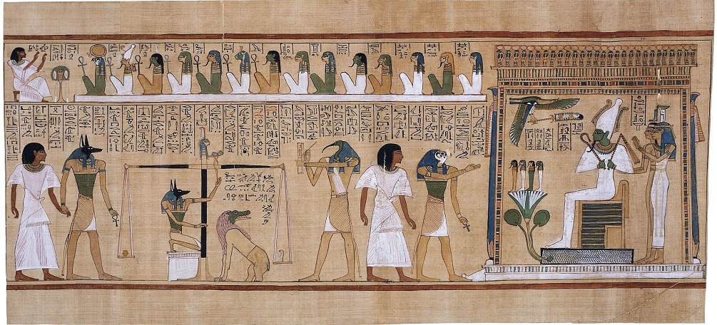 The Judgment Of Osiris Represented In Papyrus Hunefer Image Credit Wikimedia Commons