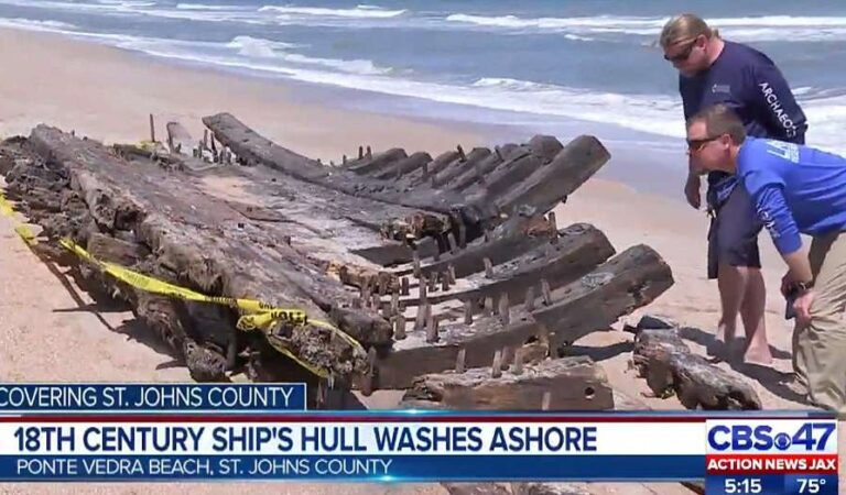 Hull Of 18th Century Vessel Dubbed 'Holy Grail Of Shipwrecks' Washes Ashore In Florida