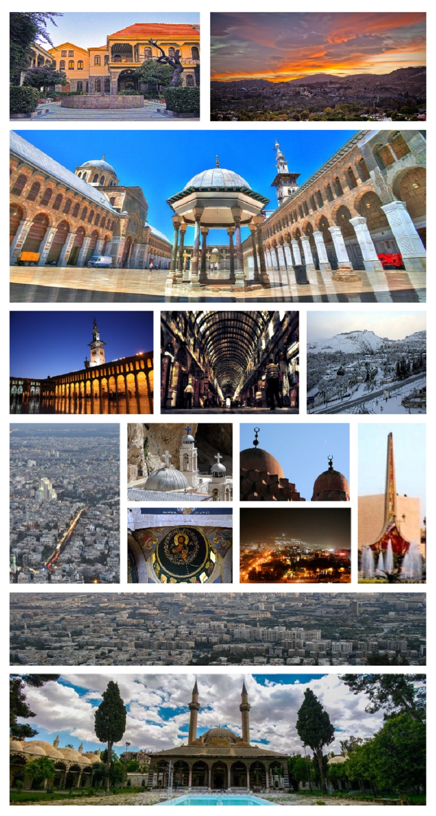 Un montaje de la capital, Damasco