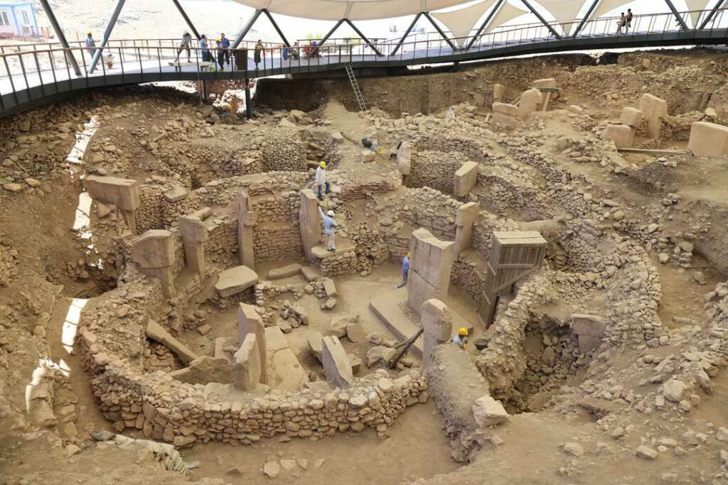 Arcaheological excavations performed at Gobekli Tepe