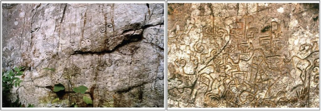 Different Motifs at the Pusharo Petroglyphs