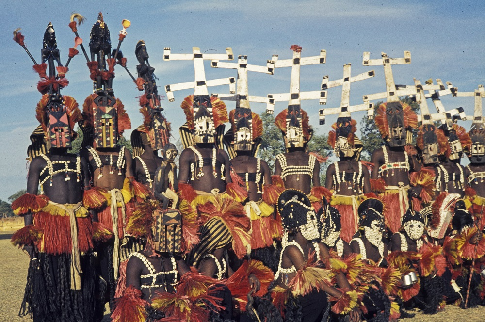 An image of a ritual performed by the Dogon Tribe