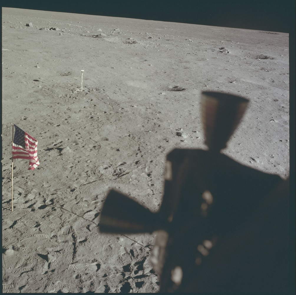 The American Flag photographed from the Moon