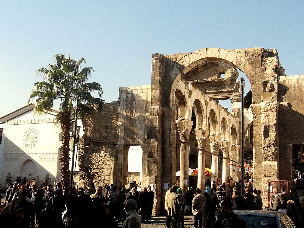 The Jupiter temple in Damascus