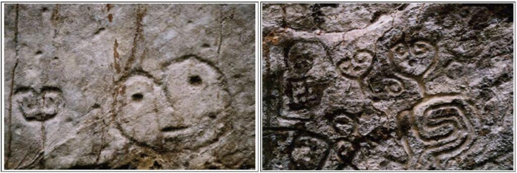 The Pusharo Petroglyphs representing strange beings