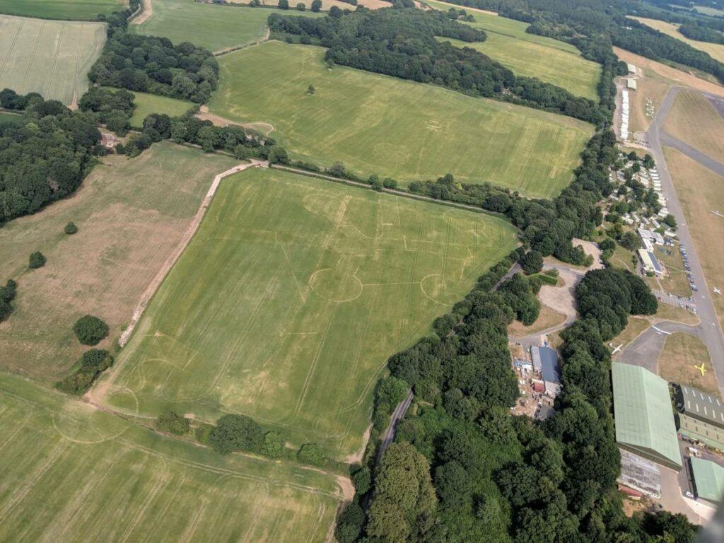 Old parts of RAF Lasham's airfield