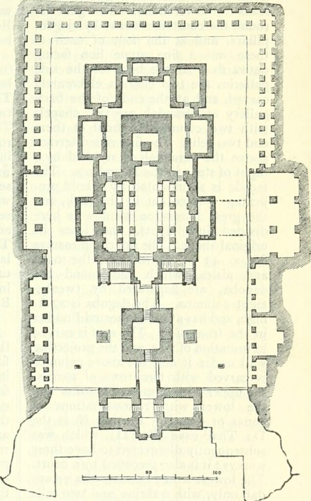 Ground plan of the temple